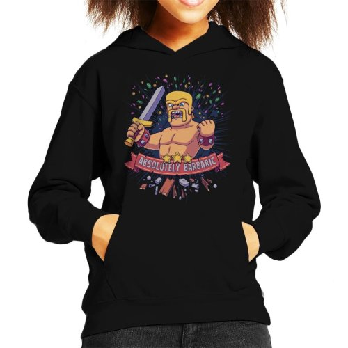 Absolutely Barbaric Clash Of Clans Kid's Hooded Sweatshirt