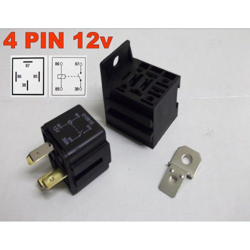 4 PIN 12v 30Amp RELAY AUTOMOTIVE CAR VAN MOTORBIKE WITH BASE ( IN-1-100 )