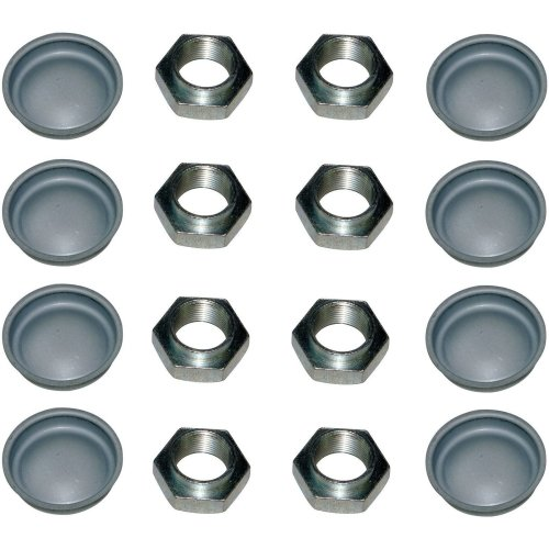 10x REAR AXLE HUB NUTS & DUST CAPS FOR PEUGEOT 106 205 206 306 309 1007 BOXER