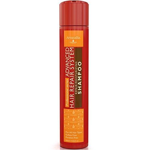 Advanced Hair Reair Moisturizing Sulfate Free Shamoo with Argan Oil and Macadamia Oil By Arvazallia for Dry or Damaged Hair
