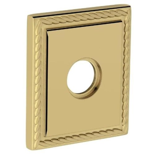 Baldwin R036003IPS 3.225 in. Square Rosette Passage, Lifetime Polished Brass