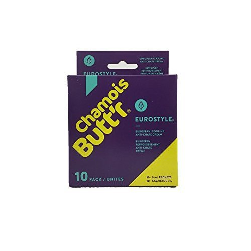 Chamois Buttr Eurostyle Anti-Chafe Cream, 10-pack of 9mL packets