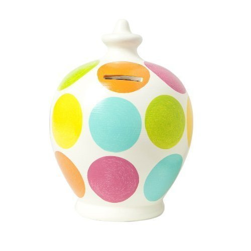 Terramundi Money Pot - Pink, aqua, lime, orange, yellow large spots