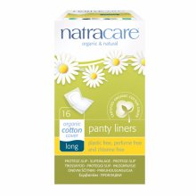 Natracare  Panty Liners - Long Wrapped 16s