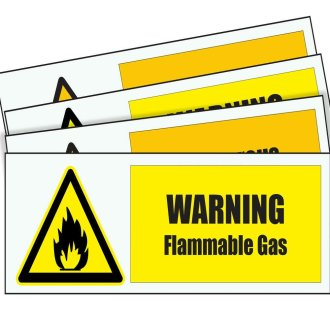 WARNING FLAMMABLE GAS METAL SIGN WORK PLACE FACTORY UNIT INDUSTRIAL OFFICE