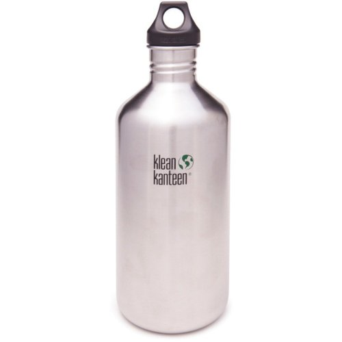 Klean Kanteen Classic 1900ml Water Bottle with Loop Cap (Brush Stainless)