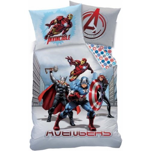 Marvel Avengers City Reversible Duvet Cover Bedding Set Single