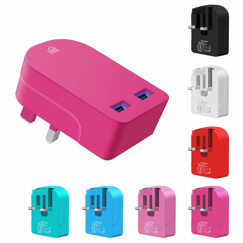 Ameego Folding Dual USB Plug | Dual USB Wall Charger