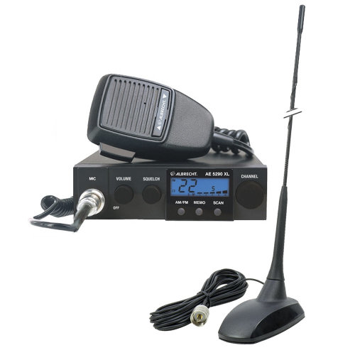 CB Radio Albrecht AE 5290XL + CB Antenna PNI Extra 48 with magnetic base