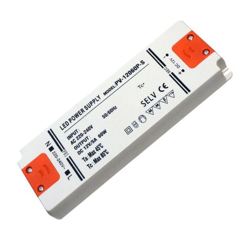 60W Ultra Thin LED Driver AC 230V to DC12V Power Supply Transformer
