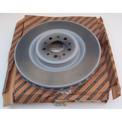 Alfa Romeo 156 3.2 330mm Genuine Front Vented Brake Disc x2 51768587