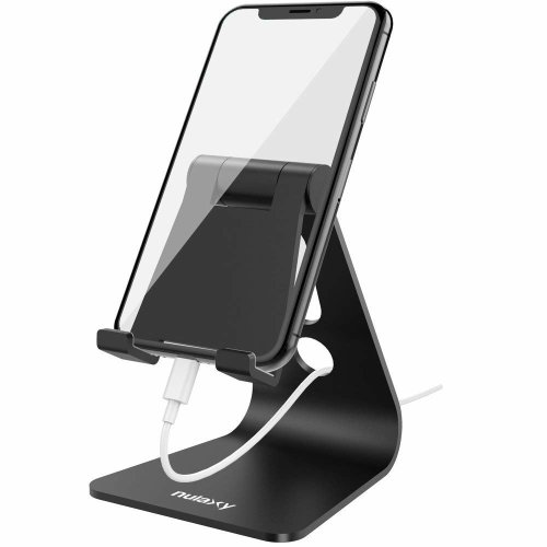 detailed look bf0ca ea7f5 NULAXY Foldable Tablet Phone Stand, Nintendo Switch Stand Desk Holder for  iPad Air Pro iPhone X 8 7 6 Plus Samsung Galaxy Tab Android Smartphones...