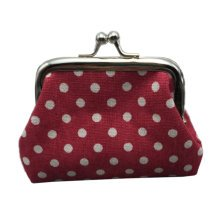 Womens Wallet Card Holder Coin Purse/ Classic Canvas Kiss Lock Coin Bags