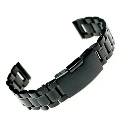 Ritche Black Stainless Steel Bracelet Watch Band Strap