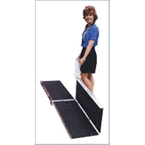 8-ft x 30-in Portable Multifold Wheelchair Ramp 800 lb. Weight Capacity  Maximum 16-in Rise