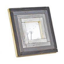 Free Standing Rustic Finish Reclaimed Pine Wood Photoframe in Black