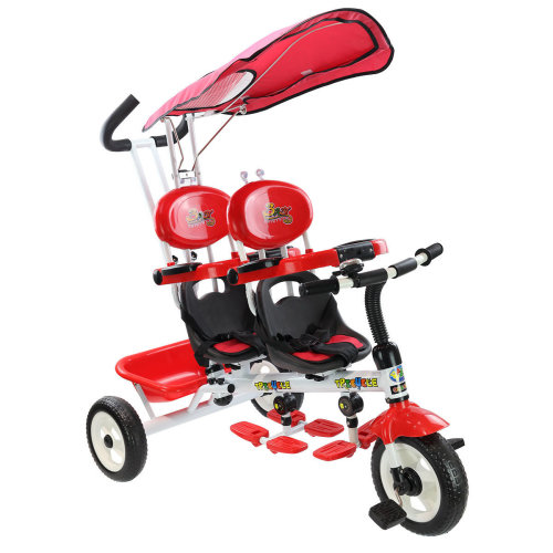 4-In-1 Children's Trike | Two-Seater Tricycle For Kids