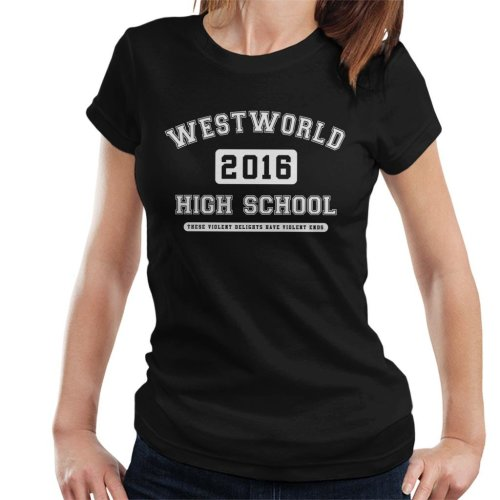 Westworld High School Varsity Text Women's T-Shirt