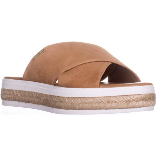Calvin Klein Jupare Platform Espadrille Sandals, Almond Tan, 5.5 UK