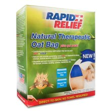 Rapid relief Natural Therapeutic Oat Bag with Gel Pack - Square
