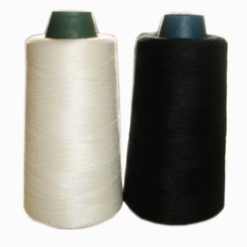 1 Black & 1 White Spools Polyester Sewing Thread 3000 Yards Each Weight: 90g