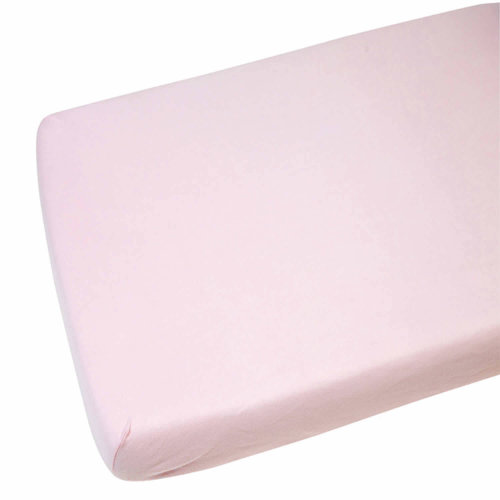 2x Jersey Fitted Sheet 100% Cot 60x120cm Pink