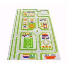 Little Helper 3D Childrens Play Rug, Town Traffic Design, 100 x 150cm