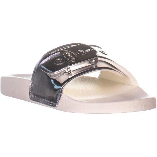 Dr. Scholls OG Poolslide Slide Sandals, Silver, 8 UK