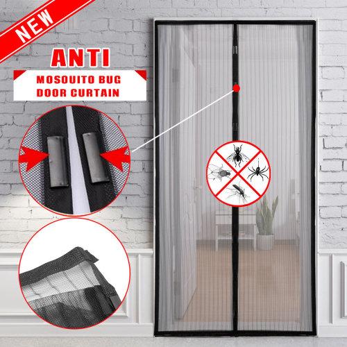Hands Free Magic Magnetic Mesh Anti Fly Mosquito Bug Door Curtain Screen Net