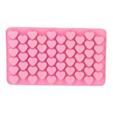 Silicone Cake Topper Mold Chocolate Fondant Sugar Mould Biscuit Dessert Desert[55 Mini Hearts]