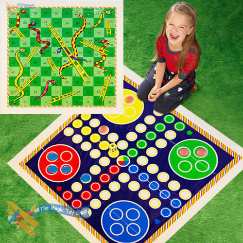 Set of Traditional Giant Ludo and Snakes & Ladders Game