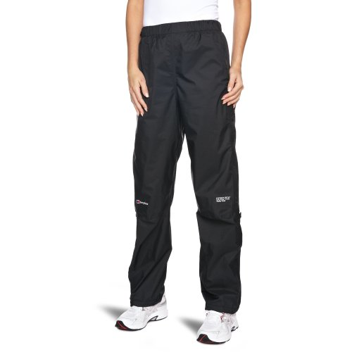 Berghaus Women's Paclite Gore-Tex Waterproof Trousers Over Trousers - Black, Size 12 - Leg 31