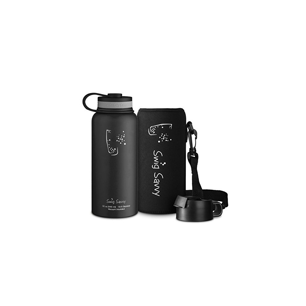 b0d13cf29f SWIG SAVVY 946 ml Stainless Steel Vacuum Insulated Water Bottle Wide Mouth  Capacity Double Wall Design. >