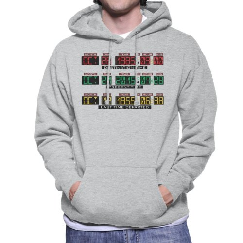 Back To The Future Delorean Time Machine Men's Hooded Sweatshirt