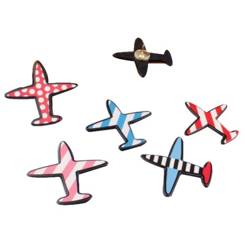5 Pcs Creative Pushpin Push Pin Thumbtack Office Supplies, Aircraft