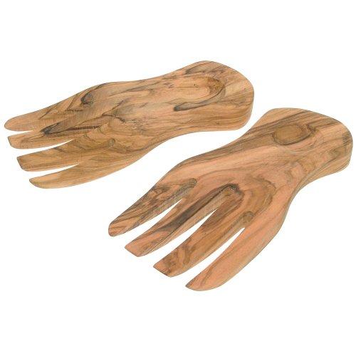 Eddingtons Olive Wood Salad Hands, Servers