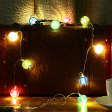 2M 20 LED Metal Lantern String Lights
