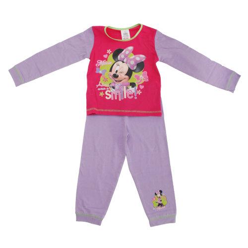 Disney Childrens Girls Minnie Mouse Always Wear A Smile Pyjama Set