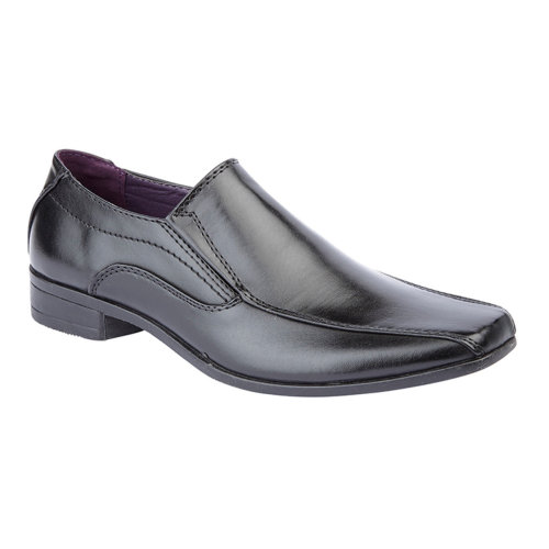 US Brass Boys Formal Slip On Shoe Black