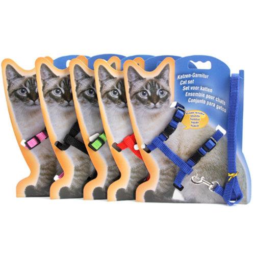 Cat Harness and Leash Adjustable Nylon Halter Harness Kitten Belt