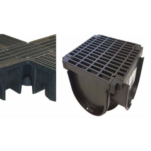Clark Drain CD406 Quadbox Corner Unit Piece CD422/96 Pvc Drainage Drain Channel