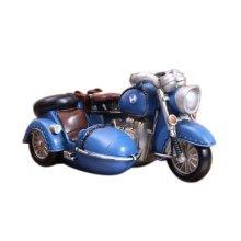 Creative Vintage Cartton Blue Motorcycle Piggy Bank/Coins Tank