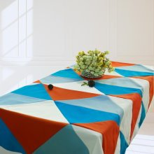 [Patchwork] Handmade Tablecloth Durable Canvas Table Cover, 160*120 cm