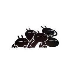 """3 pieces Lovely Rabbit Stickers Funny Car Decal BLACK (4.7""""x4.7"""")"""