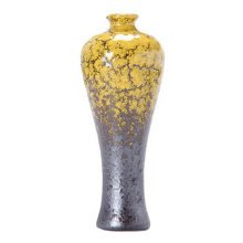 Chinese Exquisite Small Vase Cute Decor Vase For Home/Office, Yellow