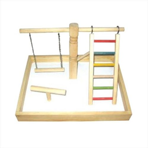 A&E Cage HB46410 Wood Tabletop Play Station