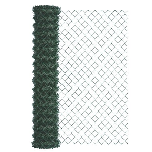 GAH-Alberts 604752 Wire Mesh Wicker with Plastic Coat Height 1000 mm Meshing 60 x 60 mm Wire Diameter 2.8 mm Roll 25 m Green RAL 6005