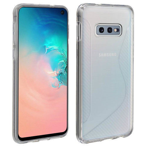 S-Line design soft silicone case for Samsung Galaxy S10e - Frosted white