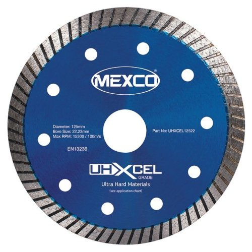 Mexco UHXCEL 125mm Ultra Hard Materials Porcelain Diamond Blade