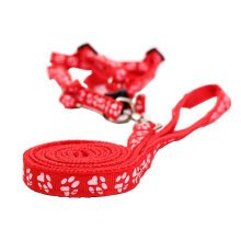 Durable Dog Collar Leash Strap For Puppy Pet,red